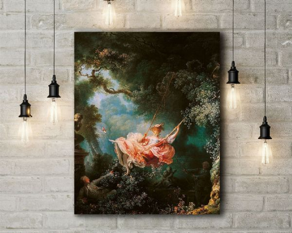 Jean-Honore Fragonard: The Swing. Fine Art Canvas.